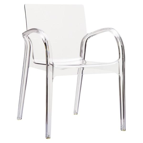 Le coquet fauteuil design transparent noir fum - Fauteuil polycarbonate transparent ...