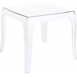 LA REINE Table basse transparente