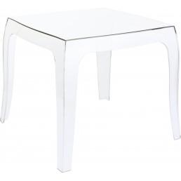 LA REINE Table basse transparente